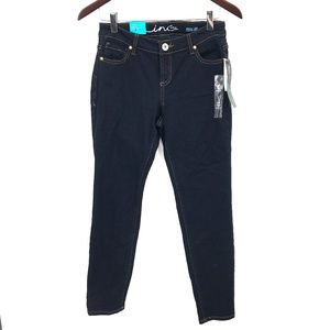NEW Inc Denim International Concepts Curvy Fit Skinny Leg dark wash Jean 0 Short
